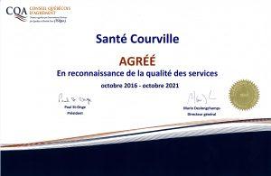 CQA Certificat AGRÉÉ 2016-2021 Santé Courville